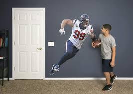 J J Watt Houston Texans Real Big Fathead Mural 4 8 X 5 7 Plus Extra Graphics 1906700825