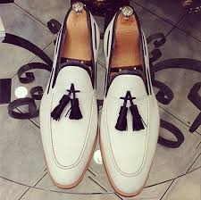 handmade men white leather shoes men s
