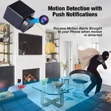 180 Rotating Lens Covert Charger Camera 1080p Hd Security Camera Wifi Wireless Clock Surveillance Camera Motion Detection Remote App Control Nanny Cam Home Kids Baby Pet Monitoring Cam