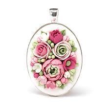 flower pendant rose blossom necklace
