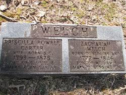 Priscilla Powell Carter Welch (1793-1875) - Find A Grave Memorial