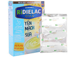 Bột ăn dặm Ridielac yến mạch sữa hộp 200g (6 - 24 tháng)
