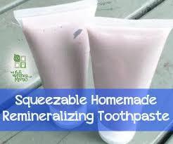 squeezable homemade toothpaste recipe