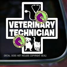 Veterinary Technician Vinyl Decal Sticker Vet Tech Nurse Cat Dog Car Window Sign Ebay