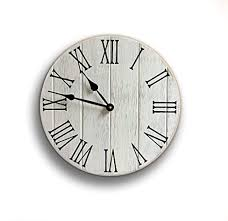 farmhouse style rustic wood wall clock