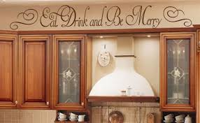 Eat Drink And Be Merry Vinyl Wall Quote Word Decal Bar Home Kitchen Decor For Sale Online Ebay