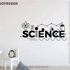 Joyreside Education Science Wall Decal Quotes Wall Sticker Scientific Vinyl Decal Home Kids Room Decor Interior Designed A728 Wall Stickers Aliexpress