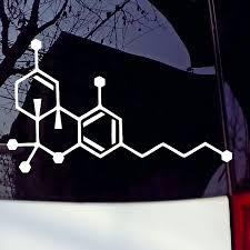 Thc Molecule Vinyl Window Bumper Sticker Sticker Vinyl Decals Window Decal Stickers Aliexpress