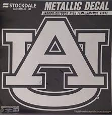 Amazon Com Auburn University S46292 Metallic Window Decals Sports Outdoors