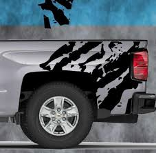 Product 2014 2015 2016 Chevy Silverado Vinyl Decal Sticker Ripped Graphic Stripe Wrap