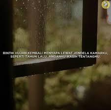 rintik hujan kembali menyapa lewat jendela kamarku seperti tahun