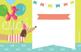 Invitaciones De Fiesta Perritos Nina