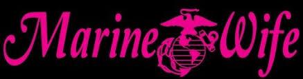 Usmc Marine Wife Vinyl Decal Sticker Vehicle Us Marine Corps Auto Car Lilbitolove Housewares On Artfire Marine Wife Marine Vinyl Decal Stickers
