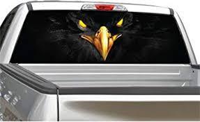 Amazon Com Black Eagle Rear Window Graphic Decal Sticker For Truck Suv 4 Sizes 20 X 66 Automotive