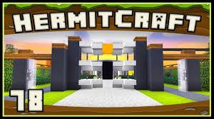 Hermitcraft 4 Minecraft Modern Landscape And Security Gate Youtube
