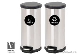 Recycle And Trash Logo Symbol For Trash Cans Containers And Walls Vinyl Decal Sticker Graphic Art 2553