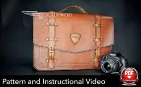 laptop bag pattern leather diy pdf