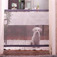 Dog Door Portable Folding Protection Product Grid Magic Pet Dog Baby Protective Guardian Child Baby Fence 72 X 110cm Houses Ken Color Black Size 180x72cm