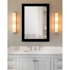 matte black framed bathroom full