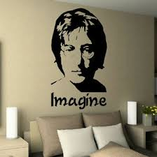 John Lennon Imagine Bedroom Music Icon Image Wall Art Sticker Decal Vinyl Decal Ebay
