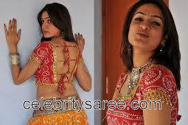 Aditi Agarwal in Bandhini Designer Blouse - Saree Blouse Patterns