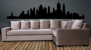 New York City Skyline Wall Decal Wall Art Sticker Etsy