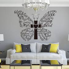 Christian Butterfly Words Wall Decal Butterfly Bible Verse Etsy