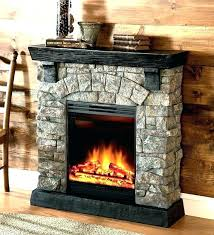 fireplace home depot small faux stone