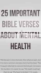 important bible verses about mental health and illness help