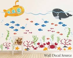 Submarine Wall Decal Ocean Wall Decals Fish Wall Decal Etsy