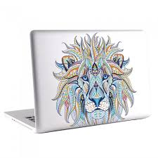 Ethnic Lion Head Tattoo Macbook Skin Decal
