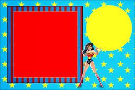 Mujer Maravilla Invitaciones Para Imprimir Gratis Oh My Fiesta