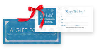 gift certificate printing for