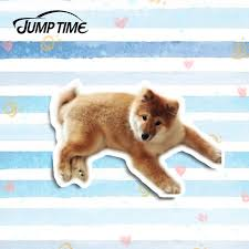 Jump Time 13cm X 8cm Car Styling Japanese Shiba Inu Cute Dog Car Stickers Auto Vinyl Decal Laptop Car Sticker Car Accessories Car Stickers Aliexpress