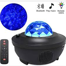 Led Star Projector With Remote Control Timer 3 In 1 Ocean Wave Led Starry Night Light Projector Built In Bluetooth Speaker Voice Control Projector Lamp For Baby Kids Bedroom Rooms Projection Effects Lighting