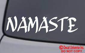 Namaste Vinyl Decal Sticker Car Window Wall Bumper Yoga Hindu Greeting Bow Love Ebay