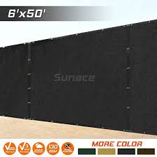 Amazon Com Sunace 6 X 50 Heavy Duty Fence Privacy Screen Windscreen Shade Fabric Mesh Tarp Black Privacy Screen Wind Screen Backyard Landscaping Designs