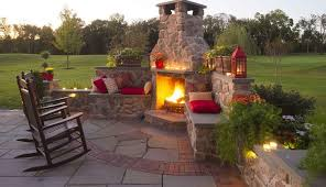 stone patios with fireplaces gasper