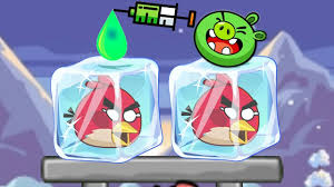 Unfreeze Angry Birds - DROPPING COLOR WATER TO BREAK ICE CUBE ...