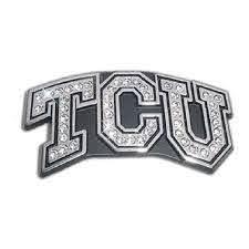 Elektroplate Tcu Horned Frogs Crystal Premium Metal Auto Emblem Decal Walmart Com Walmart Com
