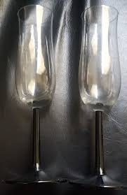 the snowdove crystal champagne flutes