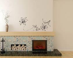 Beautiful Lily Flowers Vinyl Decals Modern Wall Art