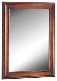 solid wood framed bathroom mirror