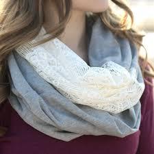 diy lace knit infinity scarf