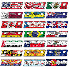 1320video Flag Sticker 1320video Com