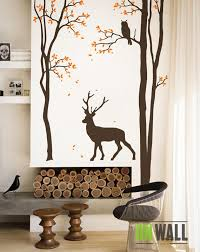 Living Room Tree Wall Decal Wall Sticker Deer Wall Decal Etsy