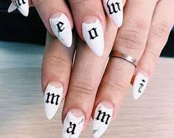 Letter Nail Decals Etsy