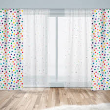 Kids Window Curtains Sheer Or Blackout With Colorful Polka Etsy In 2020 Kids Curtains Playroom Curtains Kids Window Curtains