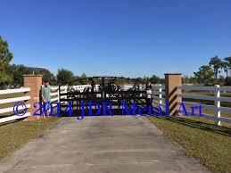 Sarasota Driveway Entrance Gates Archives Custom Driveway Gates Jdr Metal Art Iron Steel Aluminum Home Farm Ranch Estate