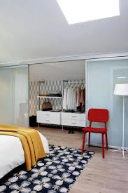 dressing room with sliding glass door